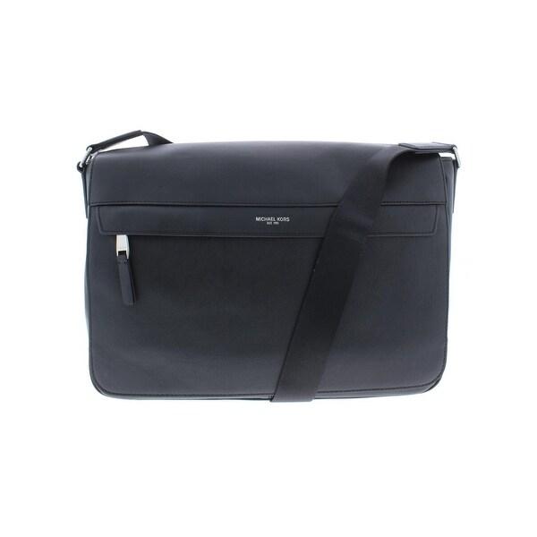 f57a0eda02ede1 Shop Michael Kors Mens Oden Resina Messenger Bag Leather Work ...
