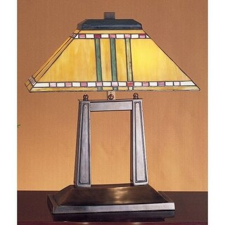 Meyda Tiffany 26004 Stained Glass / Tiffany Table Lamp From The Prairie  Corn Collection