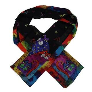 Laurel Burch Whiskered Family Silk Scarf|https://ak1.ostkcdn.com/images/products/is/images/direct/217318b08c4e5e427be1347550f53457d90f9a90/Laurel-Burch-Whiskered-Family-Silk-Scarf.jpg?impolicy=medium