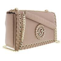 d84c4bc5b8b7 Shop Versace EE1VRBBI3 Light Brown Bucket Bag W  detachable strap ...