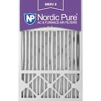 Nordic Pure 16x25x5 Honeywell Replacement Pleated MERV 8 Air Filters Qty 2