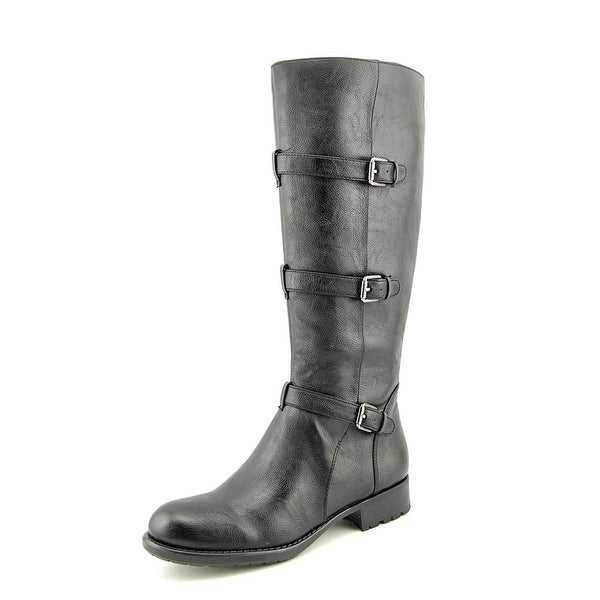 Franco Sarto Petite Women Round Toe Synthetic Black Knee High Boot