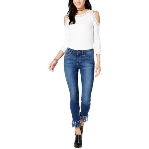 Joe's Womens Fringe Skinny Fit Jeans, Blue, 30