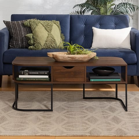 Carbon Loft 1-Drawer Curved Coffee Table