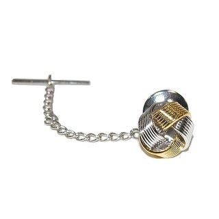 CTM® Men's Two Toned Tie Tack Knot - multi - One size