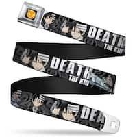 Soul Eater Logo Full Color Black Orange Death The Kid Poses Swirl Black Seatbelt Belt