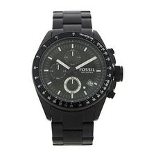 Fossil Ch2601p Decker Chronograph Black Stainless Steel Watch Watch For Men