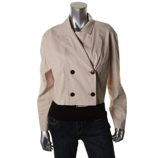 DKNY Womens Double-Breasted Long Sleeves Blazer - L