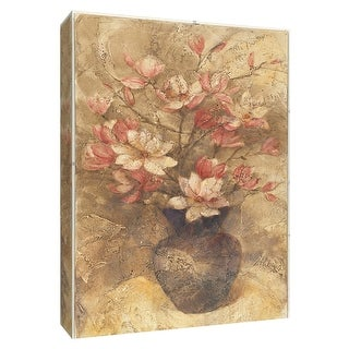 """PTM Images 9-154672  PTM Canvas Collection 10"""" x 8"""" - """"Vase of Magnolia"""" Giclee Magnolias Art Print on Canvas"""