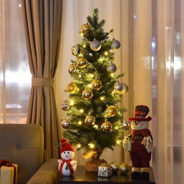 Pre Lit Spruce Tabletop Christmas Tree