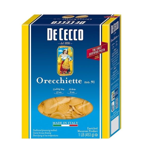 De Cecco Pasta Pasta - Orecchiette - Case of 12 - 16 oz