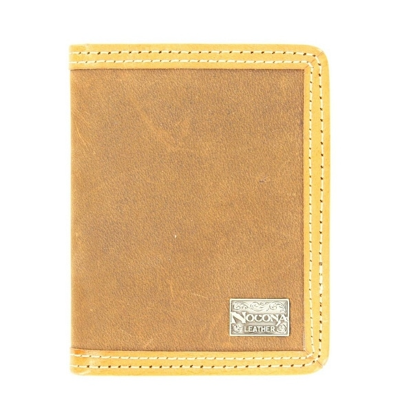 Nocona Western Wallet Mens Leather Bifold Smooth Leather Tan - One size