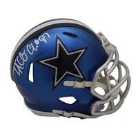 dba75f90be6 Shop Dak Prescott Autographed Dallas Cowboys Blaze Mini Helmet JSA ...