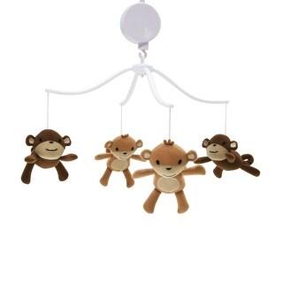 Bedtime Originals Brown Mod Monkey Musical Baby Crib Mobile