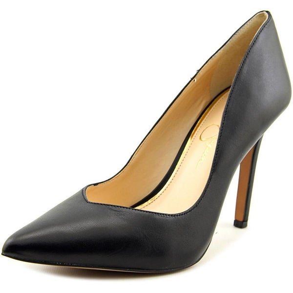 Jessica Simpson Cylvie Women Pointed Toe Leather Black Heels