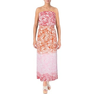 Aqua Womens Maxi Dress Chiffon Paisley
