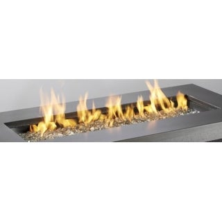 Outdoor GreatRoom CF-1242-DIY 12 inchx 42 inch Rectangular Crystal Fire Stainless Steel Burner - STAINLESS STEEL