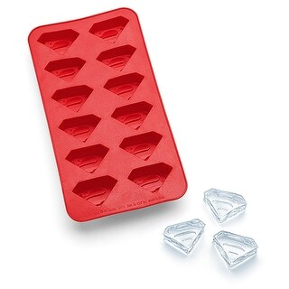 DC Comics Superman Glass and Ice Cube Tray Combo Pack - Multi
