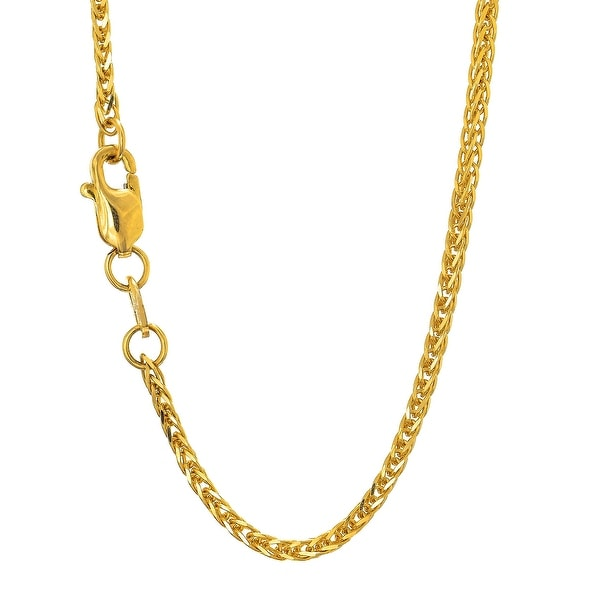 Mcs Jewelry Inc 14 KARAT YELLOW GOLD SQUARE WHEAT CHAIN NECKLACE (1.8MM)