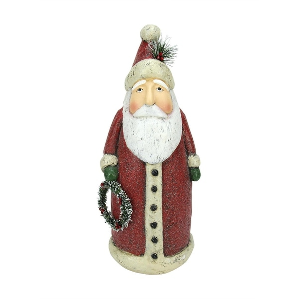 "17"" Battery Operated LED Lighted Santa Claus Christmas Table Top Decoration - RED"