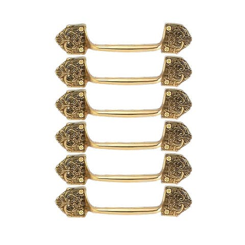 6 Ornate Cabinet Pull Drawer Handle Heavy Solid Brass Renovator's Supply