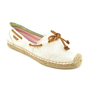 Sperry Top Sider Katama Women Square Toe Canvas Ivory Espadrille