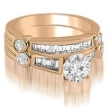 2.30 cttw. 14K Rose Gold Antique Round And Baguette Cut Diamond Bridal Set - Thumbnail 0