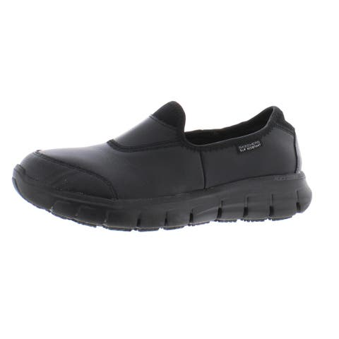 Skechers Womens Sure Track Walking Shoes Leather Slip Resistant