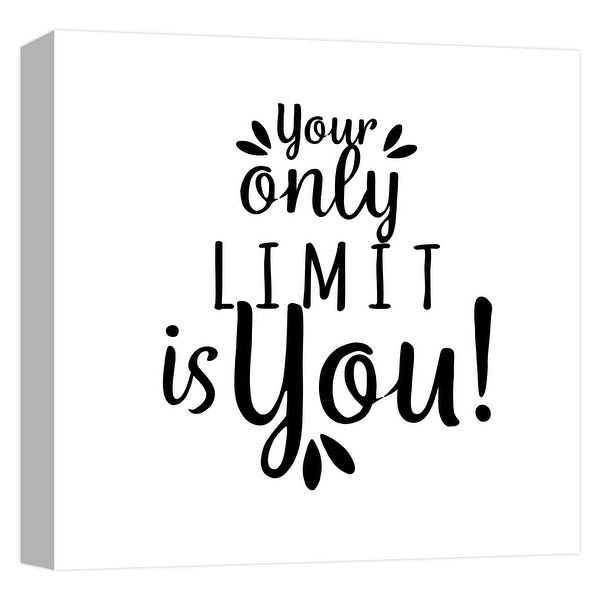 """PTM Images 9-124624 PTM Canvas Collection 12"""" x 12"""" - """"Your Limit"""" Giclee Sayings & Quotes Art Print on Canvas"""