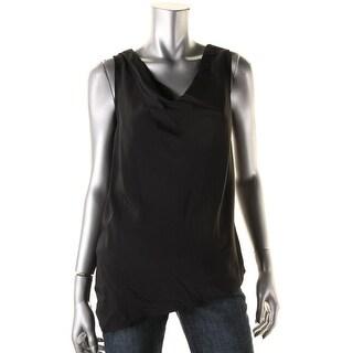 Lauren Ralph Lauren Womens Blouse Drape Neck Asymmetric