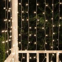 "Wintergreen Lighting 17609 6' Long Indoor Curtain Mini Icicle Lights with 6"" Spacing and White Wire - CLEAR - N/A"