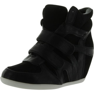 Static Footwear Womens Lace-Up Wedge High-Top Sneakers