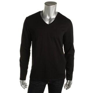 Zara Basic Mens V-Neck Long Sleeves T-Shirt