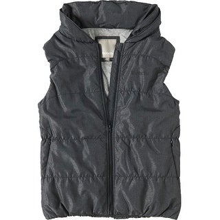 Bench NEW Black Women's Size Medium M Full-Zip Quilted Hooded Vest