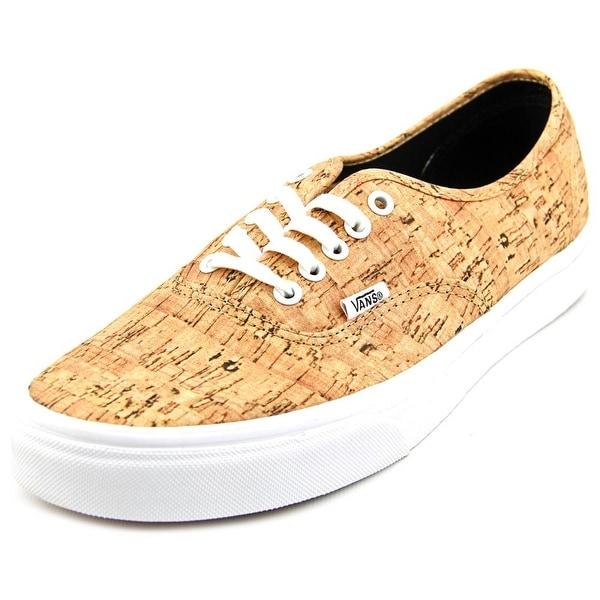 Vans Authentic Men Round Toe Canvas Tan Sneakers