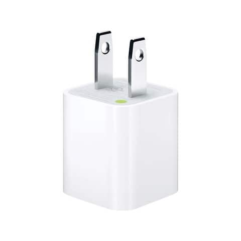 Apple USB Cube Adapter 5W Wall Charger for iPod, iPad, iPhone 5/5c/5s/6/6s/7 Plus - White