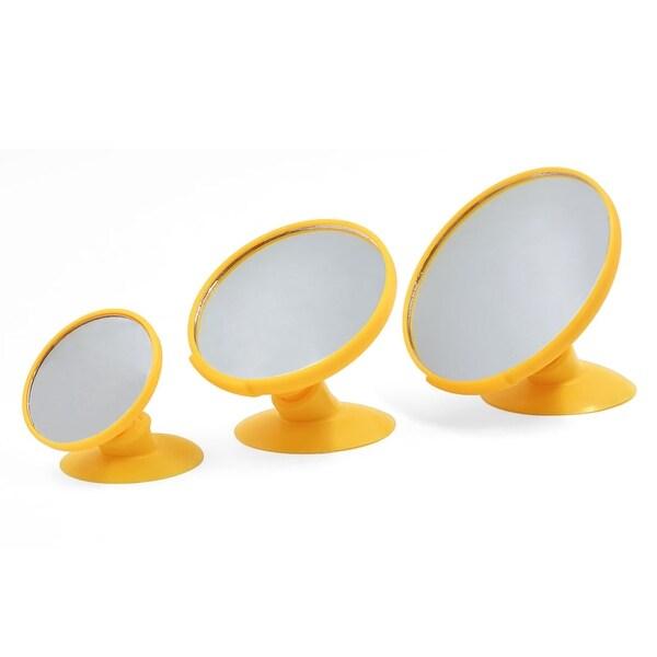 Unique Bargains 3PCS 360 Degree Rotatable Car Interior Blind Spot Rear View  Mirror W Suction Cup