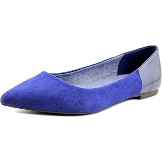 Dr. Scholl's Sidney Women Pointed Toe Suede Blue Flats