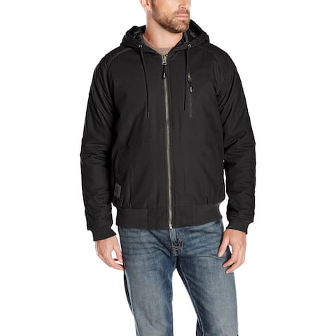 Wrangler Riggs Workwear Mens Jacket Black Size Large L Utility Hooded