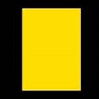 "DDI 311457 Bazic 20"" x 30"" Yellow Foam Board Case of 25"