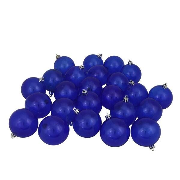 "32ct Blue Transparent Shatterproof Christmas Ball Ornaments 3.25"" (80mm)"