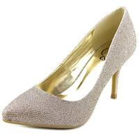 143 Girl Owanda Women  Pointed Toe Synthetic Gold Heels