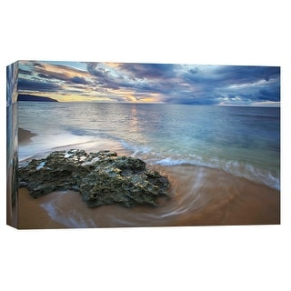 """PTM Images 9-102116  PTM Canvas Collection 8"""" x 10"""" - """"Gold Dust"""" Giclee Beaches and Waves Art Print on Canvas"""