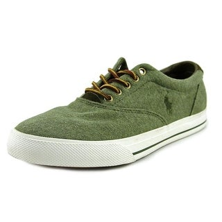 Polo Ralph Lauren Vaughn Men Round Toe Canvas Green Oxford