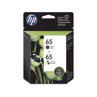 HP 65 Color/Black Ink Cartridge Combo 2-Pack T0A36AN - black