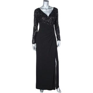 Lauren Ralph Lauren Womens Evening Dress Matte Jersey Sequined