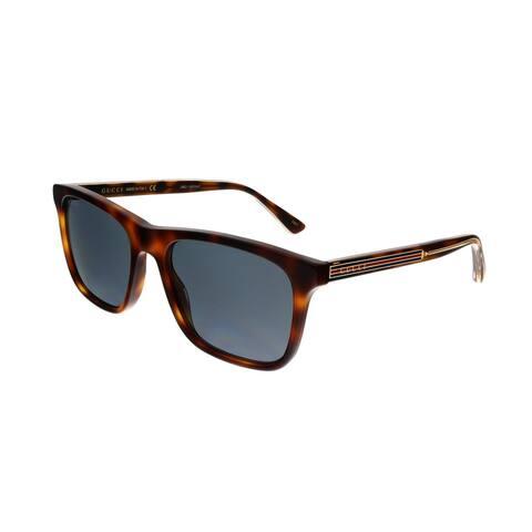 Gucci GG0381S 004 Havana Rectangle Sunglasses - 55-18-145