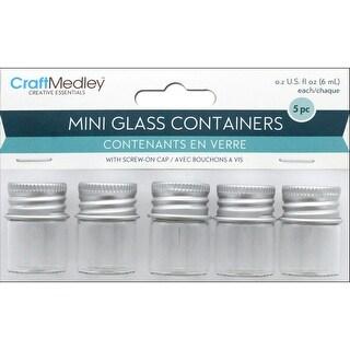 Multicraft Glass Bottles Mini w/ScrewLid .2oz 5pc