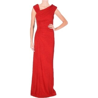 Calvin Klein Womens Evening Dress Glitter Ruched