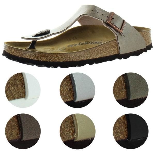 Birkenstock Women's Gizeh T-Strap Thong Cork Sandals. Opens flyout.